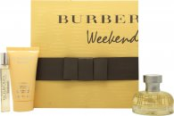 Burberry Weekend Gavesæt 50ml EDP + 50ml Body Lotion + 7.5ml EDP