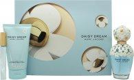 Marc Jacobs Daisy Dream Gavesæt 100ml EDT Spray + 150ml Body Lotion + 10ml Rollerball